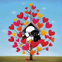 Family Tree by Doug Hyde - Limited Edition on Paper sized 24x24 inches. Available from Whitewall Galleries